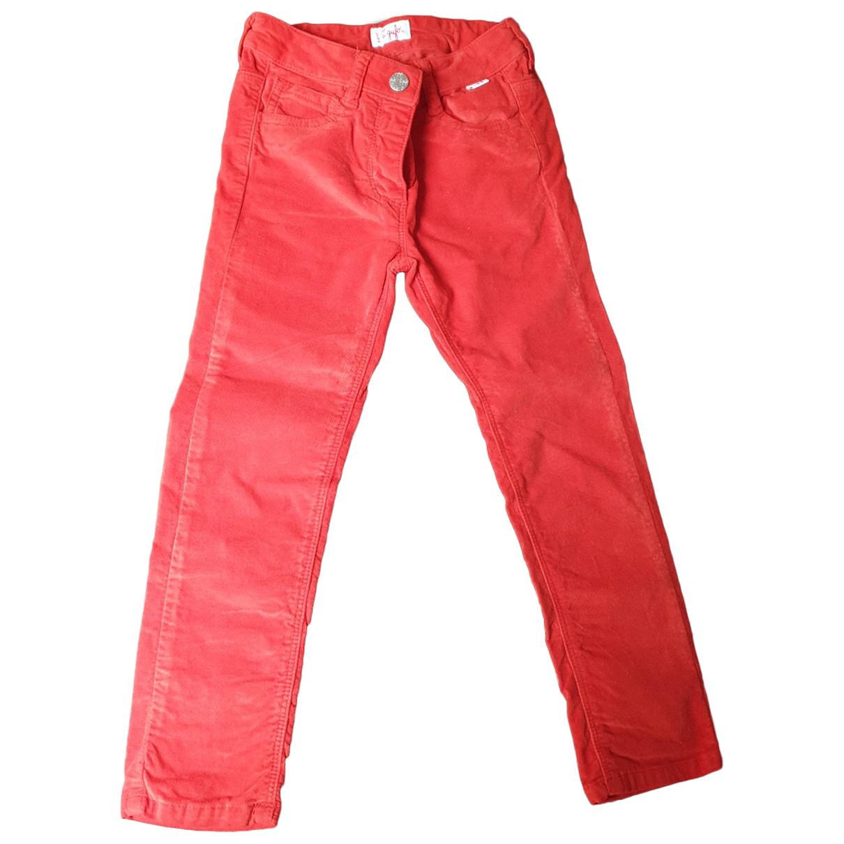 Il Gufo - Pantalon   pour enfant en coton - rouge