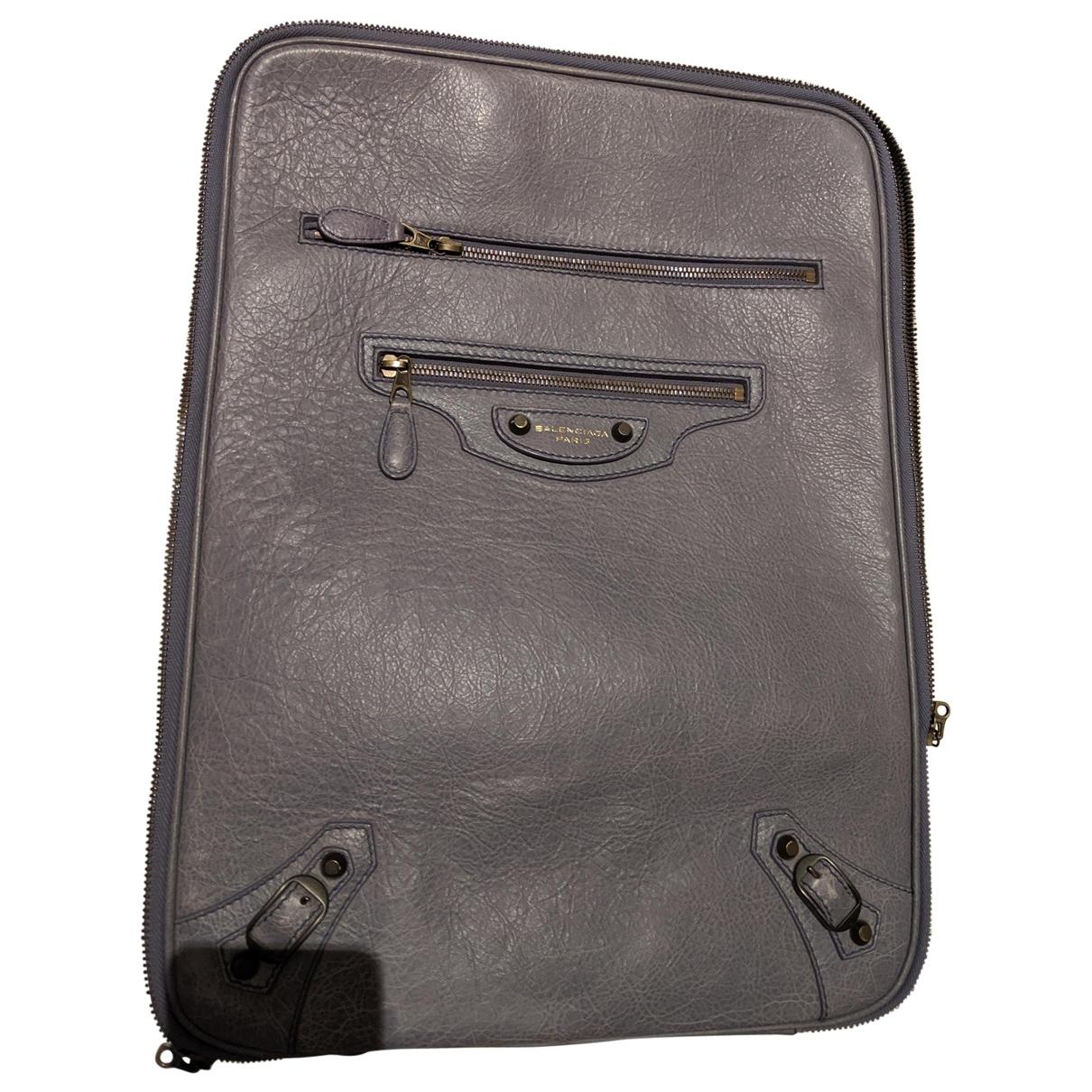 Balenciaga \N Grey Leather Travel bag for Women \N