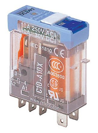 Turck , 5V dc Coil Non-Latching Relay SPDT, 10A Switching Current Plug In