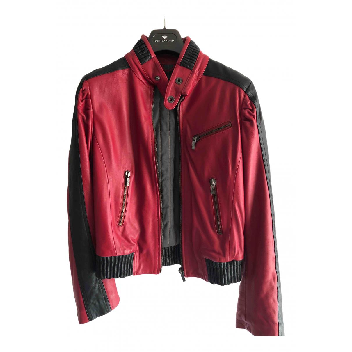Diesel \N Lederjacke in  Rot Leder