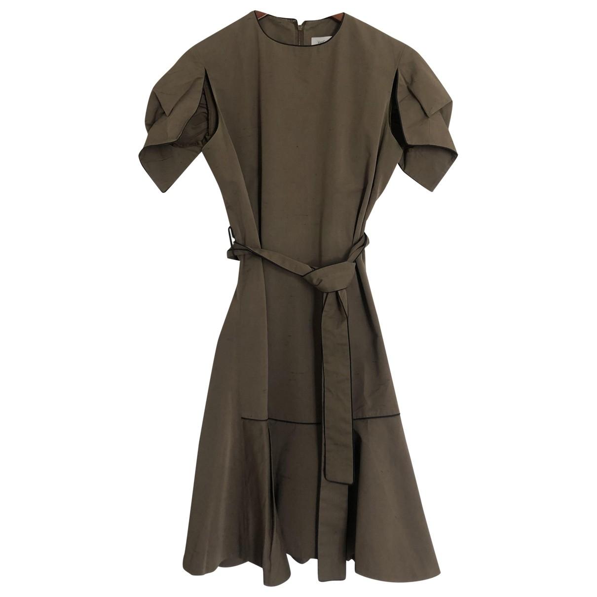 Yves Saint Laurent \N Kleid in  Beige Baumwolle