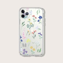 Flower Print Clear iPhone Case