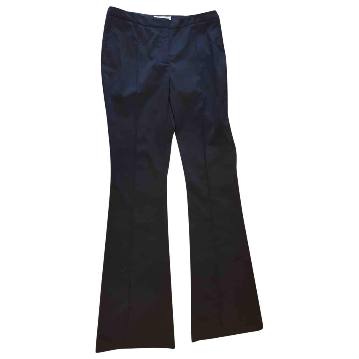 Burberry \N Black Wool Trousers for Women 40 IT