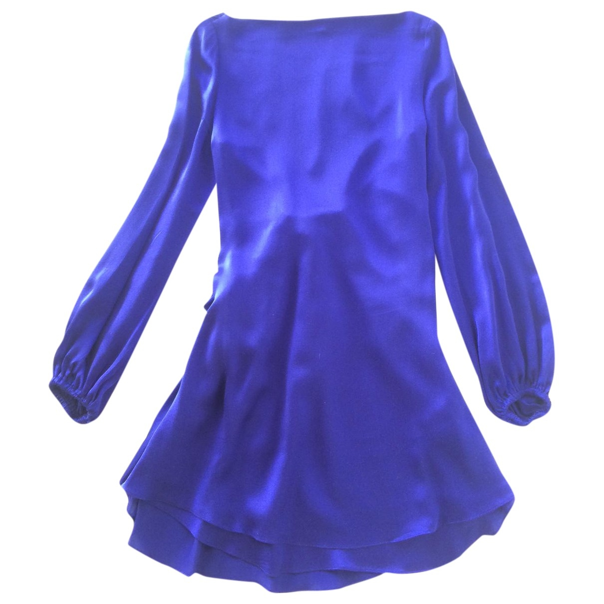Hoss Intropia \N Blue Silk dress for Women 36 FR