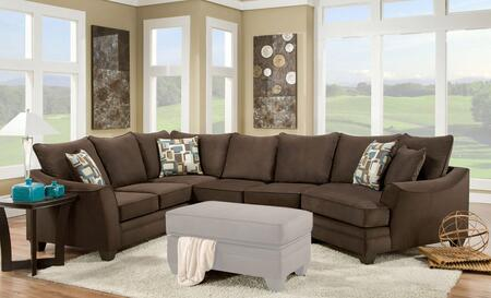 183810-4041-SEC-FE Cupertino 3 PC Sectional with Left Arm Facing Corner Sofa  Armless Loveseat  Right Arm Facing Cuddler  Toss Pillows and Fabric