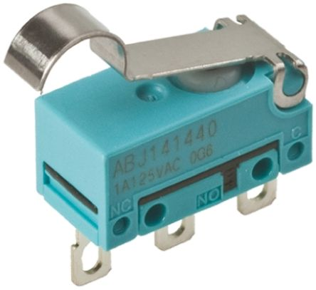 Panasonic SPST-NO Simulated Roller Lever Microswitch, 1 A @ 30 V dc