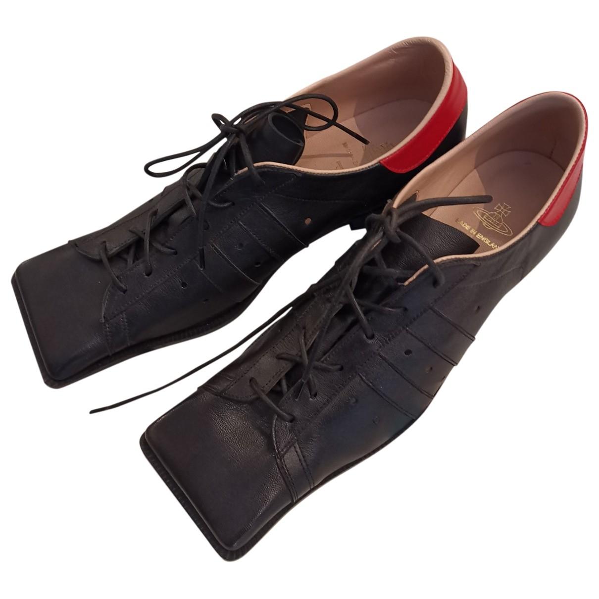 Vivienne Westwood \N Schnuerschuhe in  Schwarz Leder
