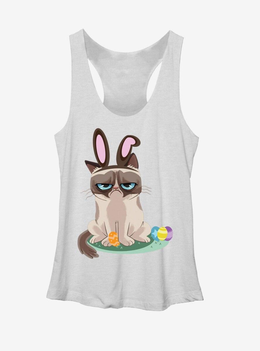 Grumpy Cat Easter Bunny Womens Tank