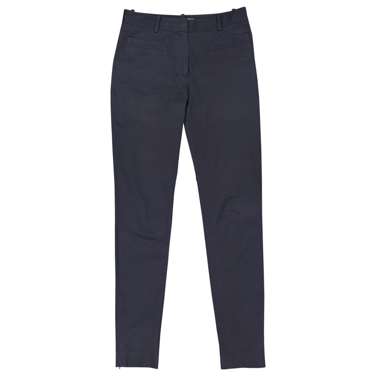Dior \N Navy Cotton Trousers for Women 36 FR