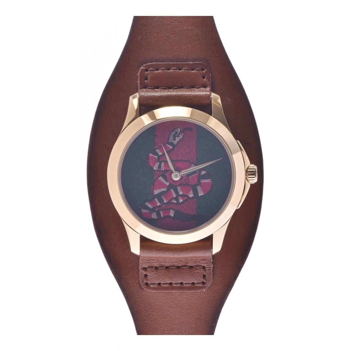 Gucci G-Timeless Uhr in  Braun Vergoldet