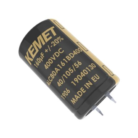 KEMET 330μF Electrolytic Capacitor 500V dc, Snap-In - ALC80A331DF500 (100)