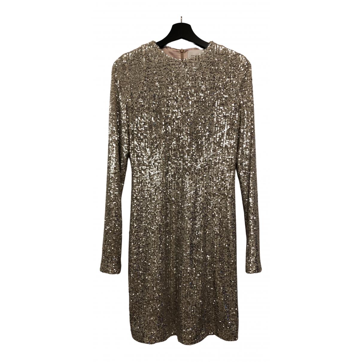 Galvan London \N Kleid in  Gold Mit Pailletten