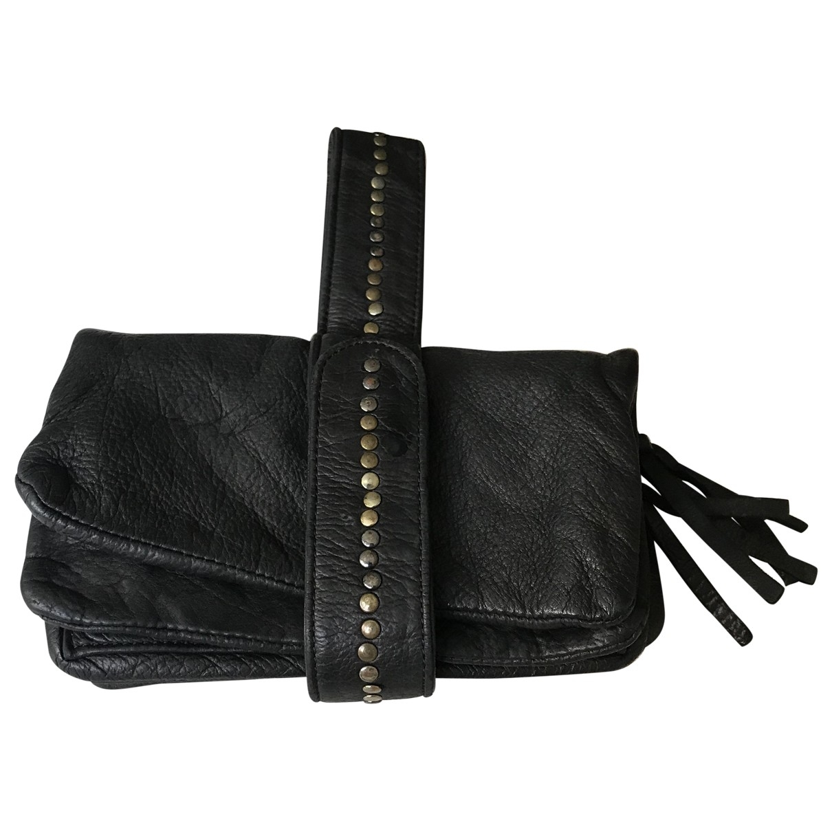 Berenice \N Black Leather Purses, wallet & cases for Women \N