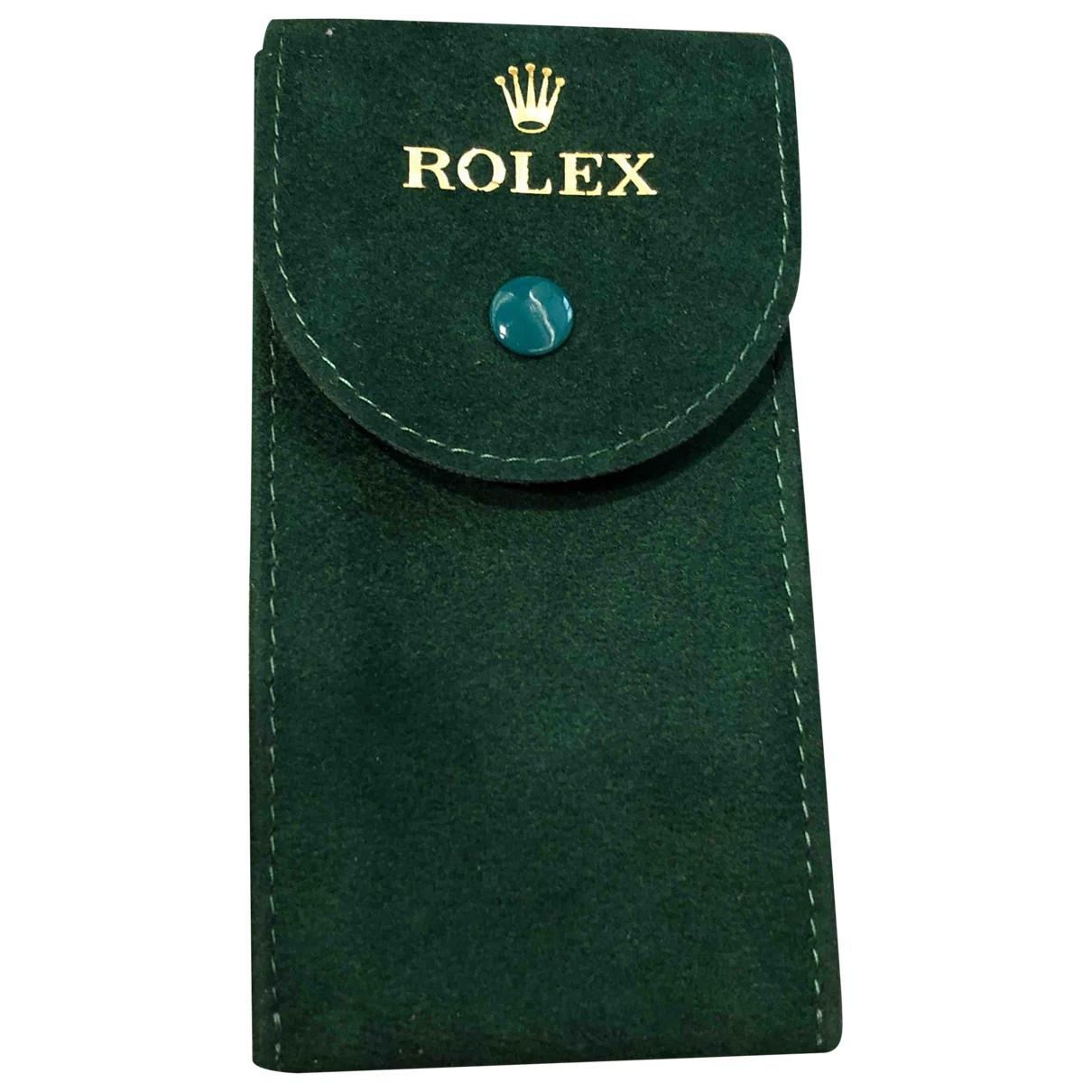 Rolex - Objets & Deco   pour lifestyle en suede - vert