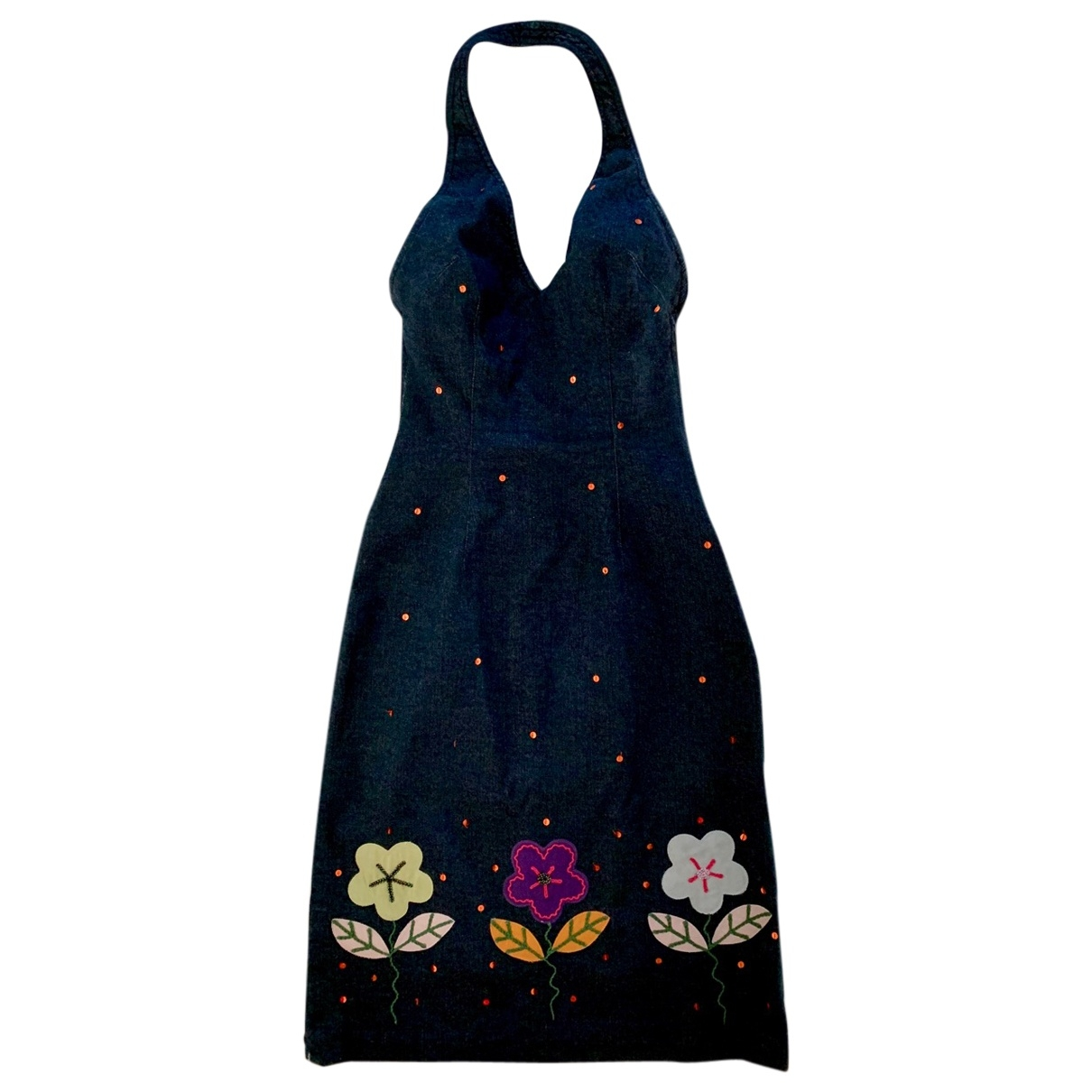 Moschino \N Blue Cotton dress for Women 40 IT