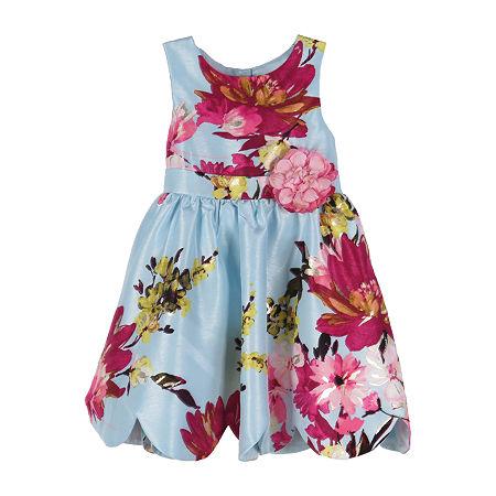 Lilt Little & Big Girls Sleeveless Party Dress, 16 , Blue