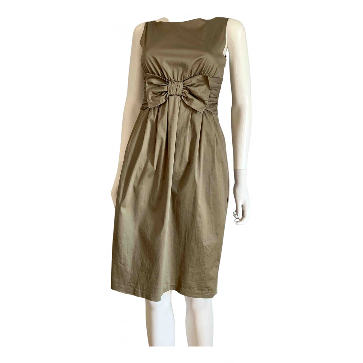 Moschino Cheap And Chic \N Kleid in  Khaki Baumwolle