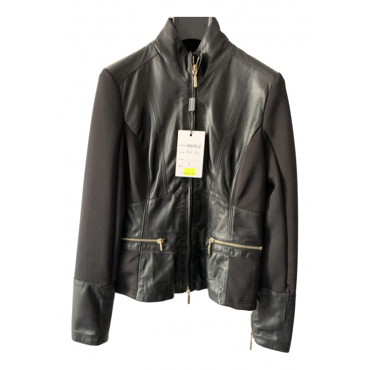 Non Signé / Unsigned N Black Leather jacket  for Men S International