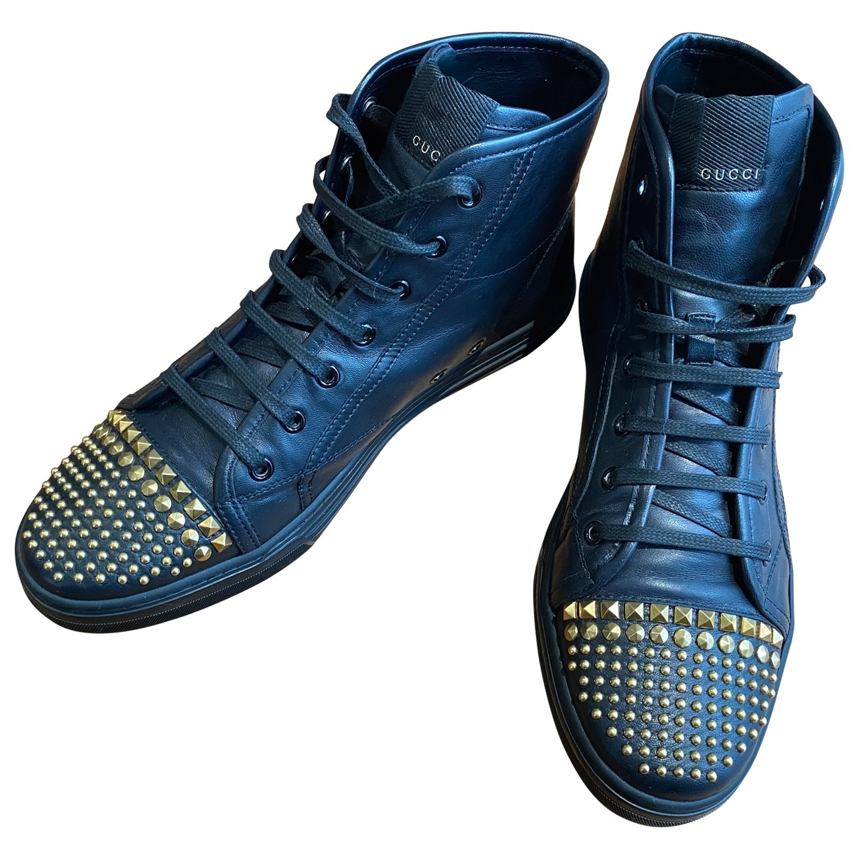 Gucci \N Black Leather Trainers for Men 42 EU