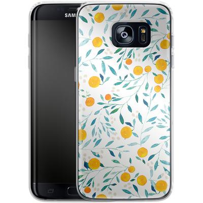 Samsung Galaxy S7 Edge Silikon Handyhuelle - Fresh Citrus von Iisa Monttinen
