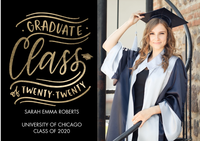 2020 Graduation Announcements 5x7 Cards, Premium Cardstock 120lb, Card & Stationery -Graduate 2020 Class by Tumbalina