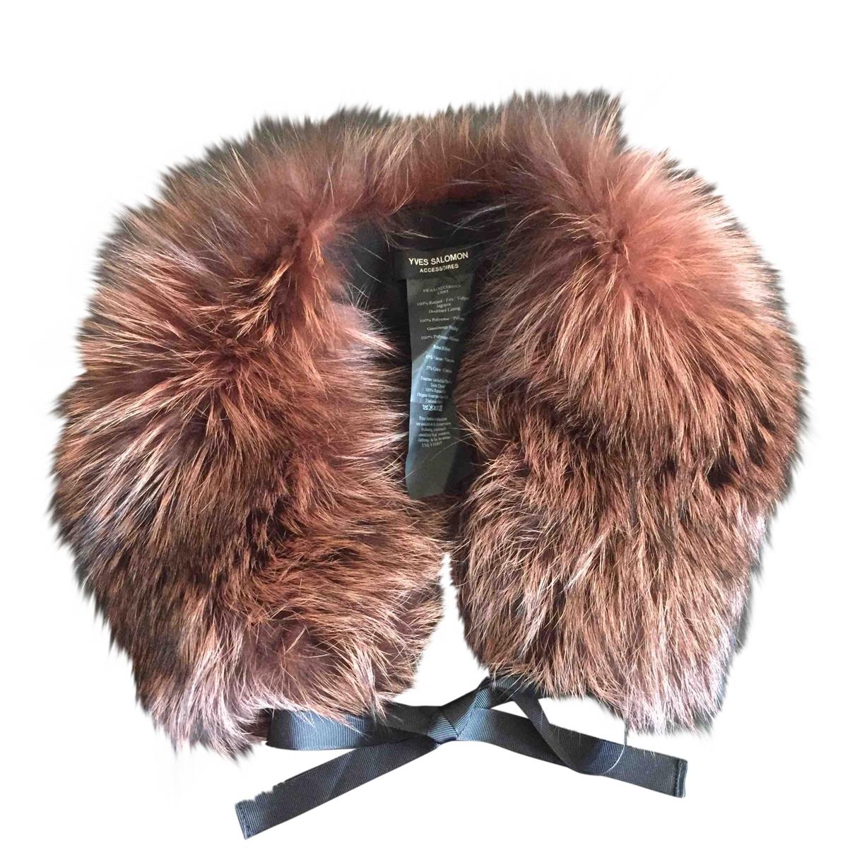 Yves Salomon \N Brown Fox scarf for Women \N