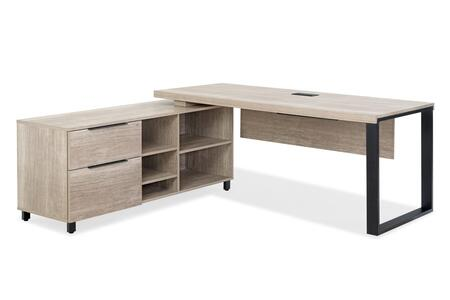 S280228-GREY Grey S2802/28 Desk with LSF