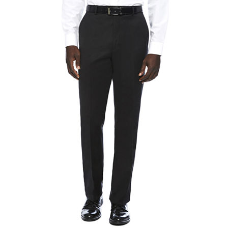 Stafford Travel Wool Blend Stretch Classic Fit Suit Pants, 34 32, Black