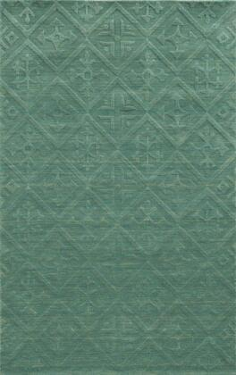 TECTC827289090912 Technique TC8272-9 x 12 Hand-Loomed 100% Wool Rug in Teal   Rectangle