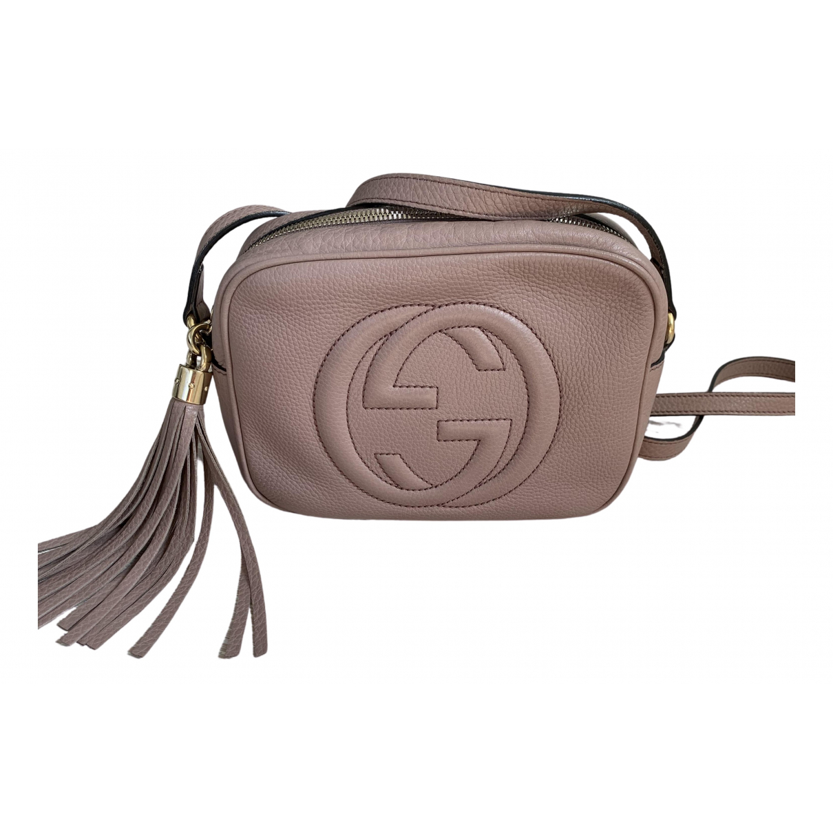 Gucci Soho Pink Leather handbag for Women \N