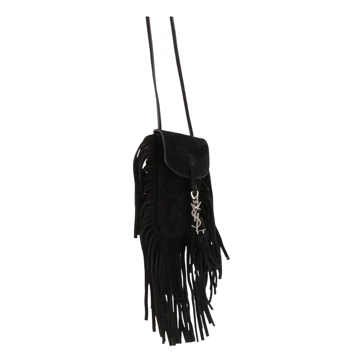 Saint Laurent \N Black Suede handbag for Women \N