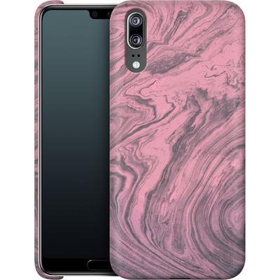 Huawei P20 Smartphone Huelle - Pink Marble von Emanuela Carratoni