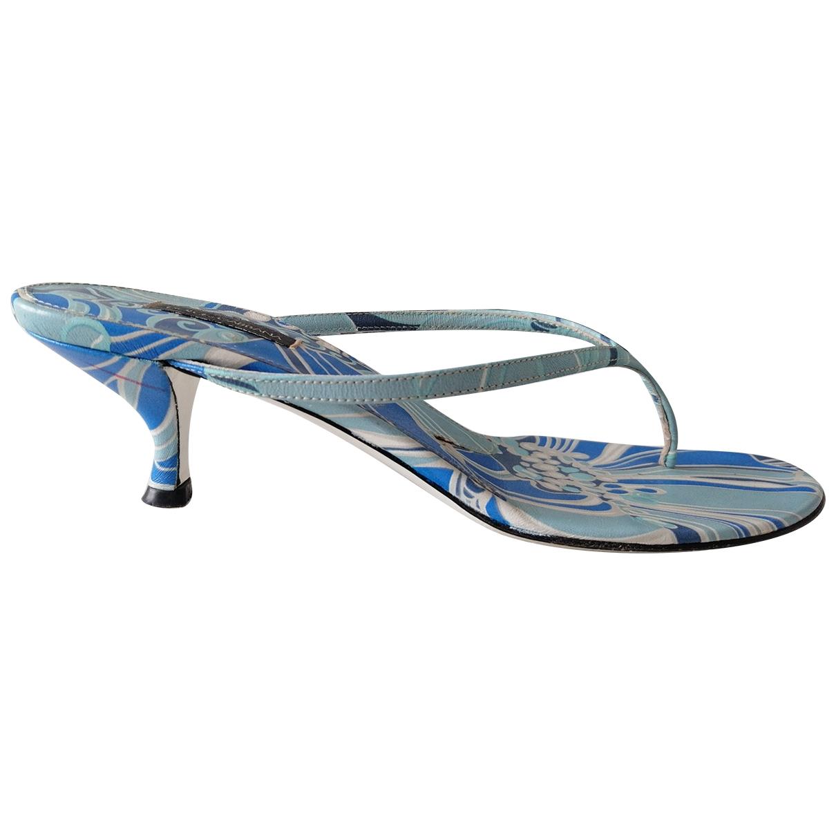 Dolce & Gabbana - Sandales   pour femme en cuir - bleu
