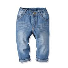 Kleinkind Jungen Jeans mit Waschung und schraegen Taschen