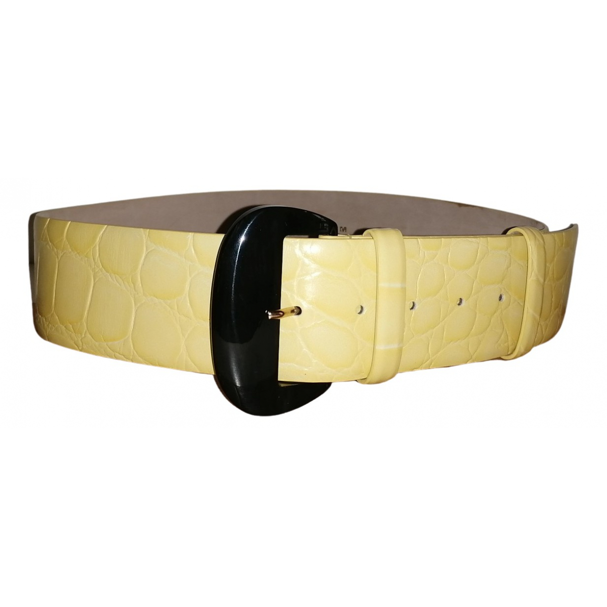 Max Mara \N Yellow Leather belt for Women M International