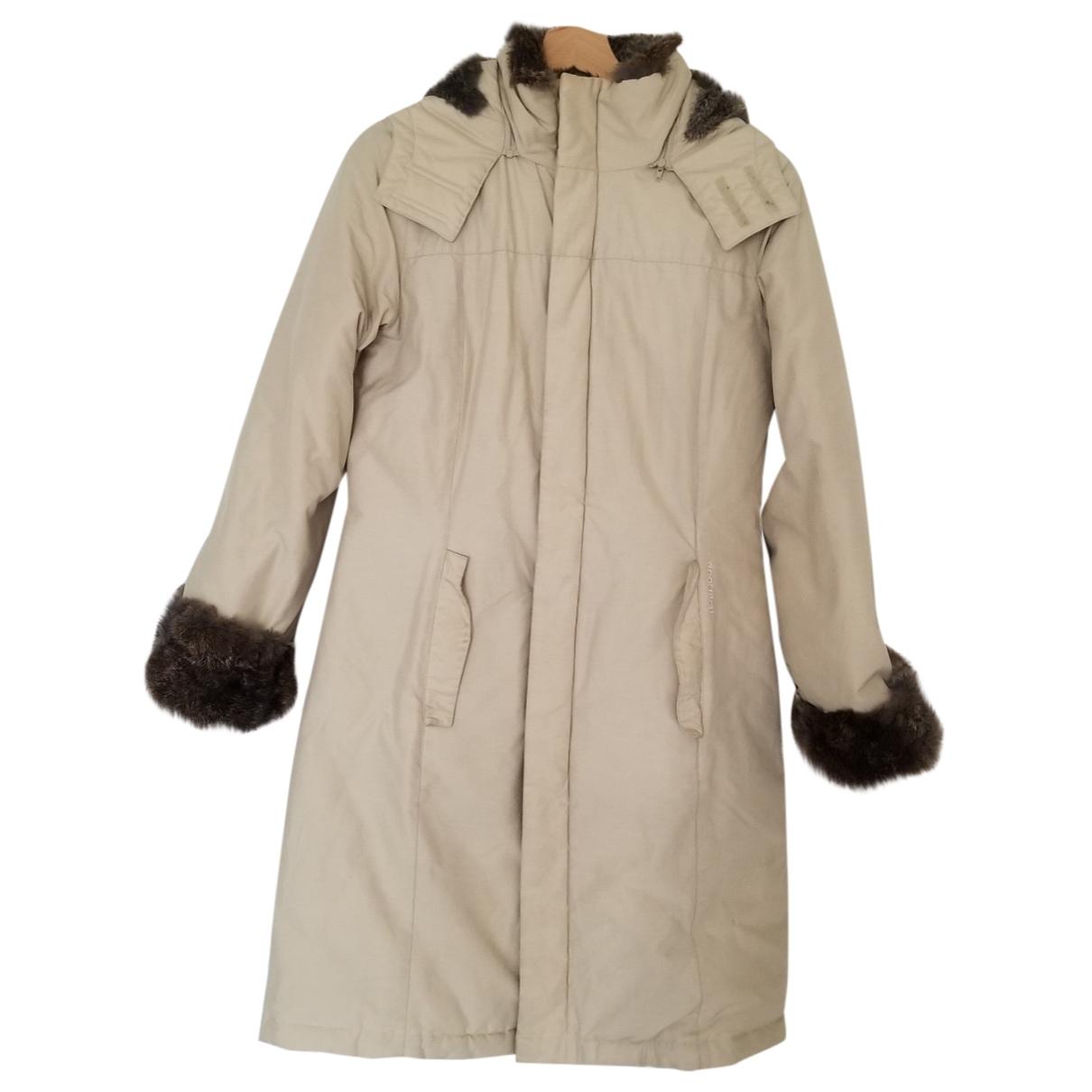 Woolrich \N Beige Cotton coat for Women 36 FR