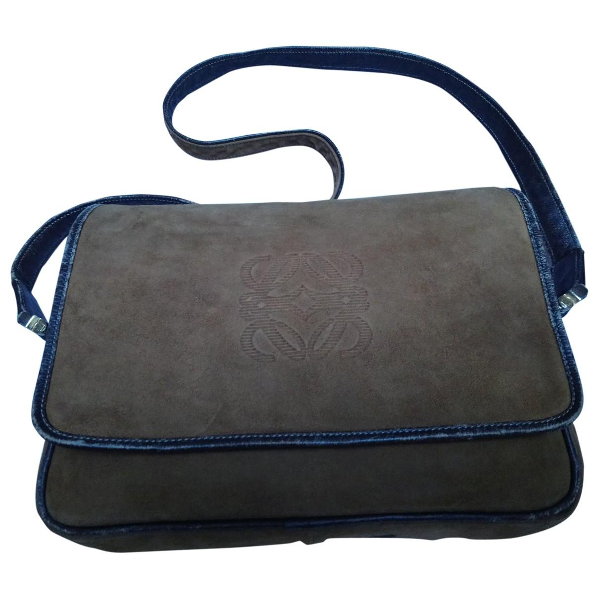 Loewe \N Camel Suede handbag for Women \N
