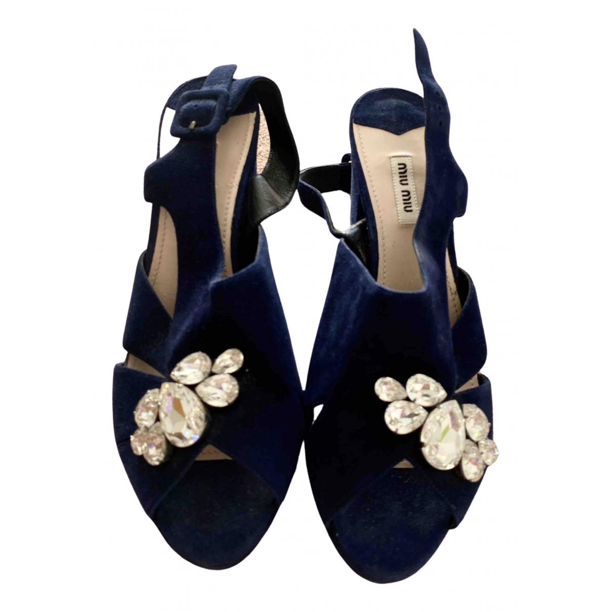 Miu Miu \N Pumps in  Blau Veloursleder