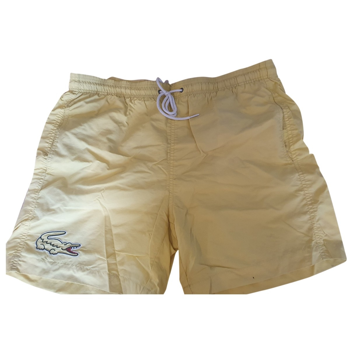 Lacoste \N Shorts in  Gelb Synthetik