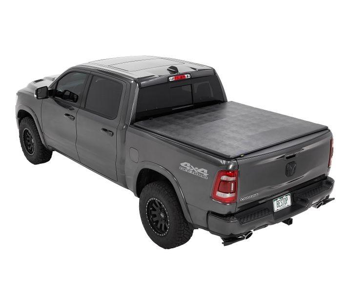 Bestop 16227-01 Black EZ-Fold Soft Tri-Fold Tonneau Cover For 5.7 Ft Bed Ram 1500 w/o Rambox 2019-2020