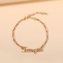 Armband mit Buchstaben Dekor