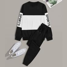 Maenner Sweatshirt und Hosen PJ Set
