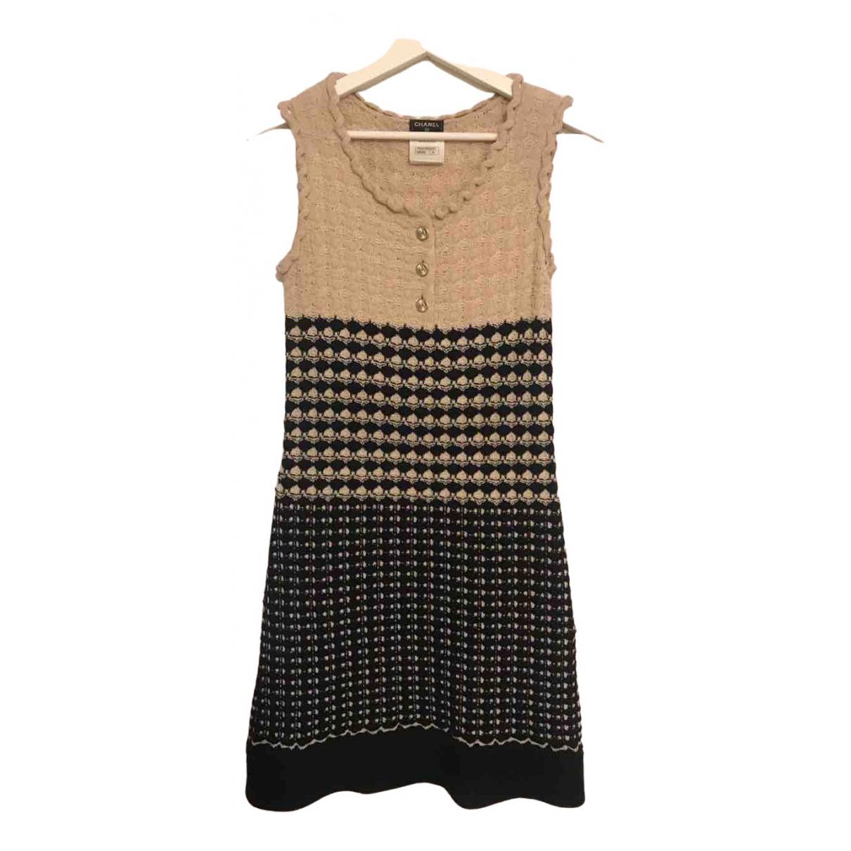 Chanel - Robe   pour femme en laine - beige