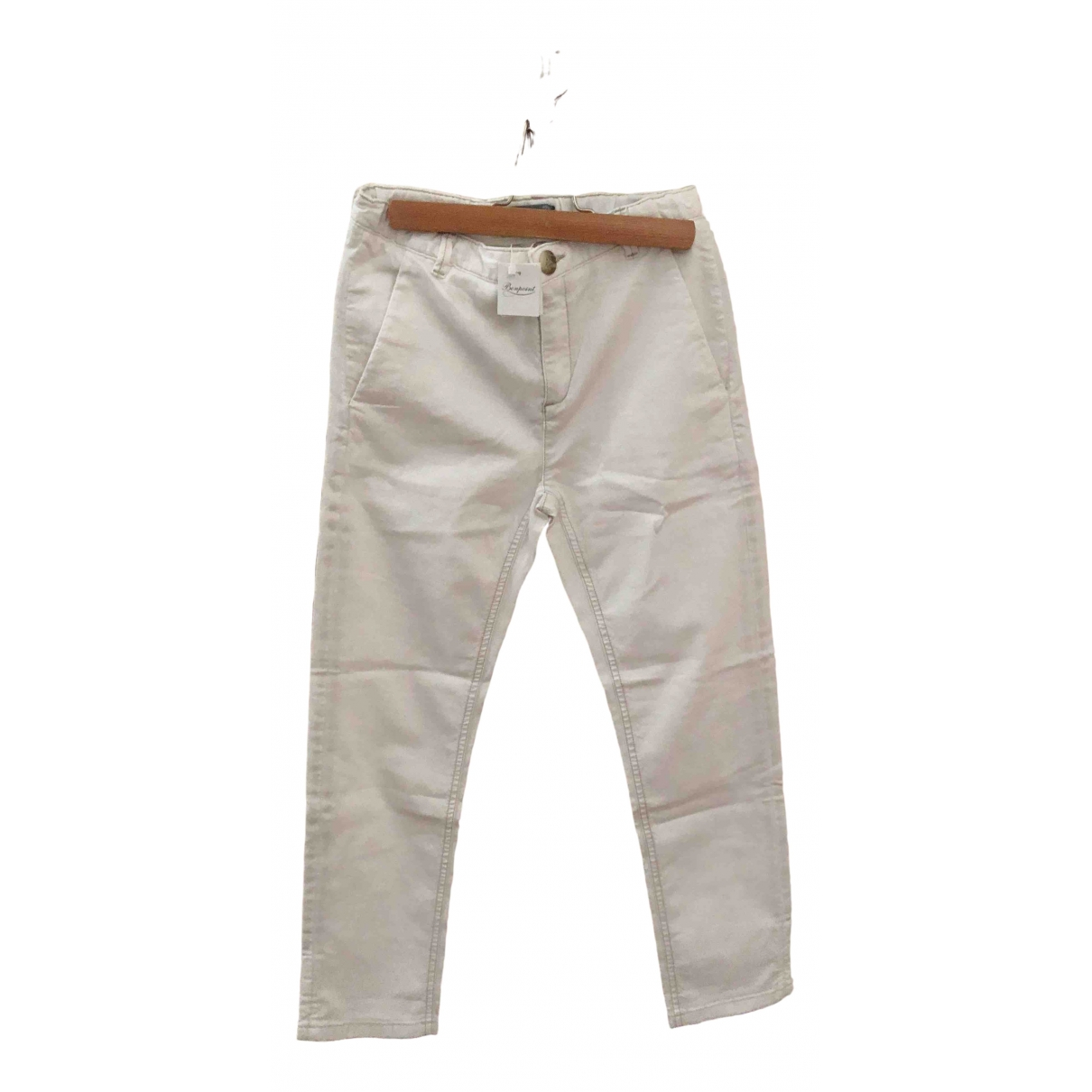 Bonpoint \N White Cotton Trousers for Kids 10 years - until 56 inches UK