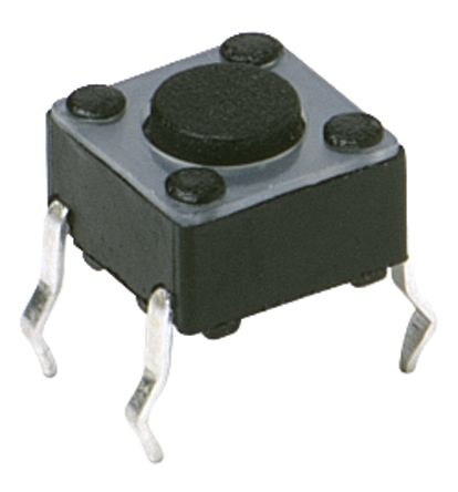 C & K IP40 Grey Button Tactile Switch, Single Pole Single Throw (SPST) 50 mA 3.5 (Dia.)mm Surface Mount (20)