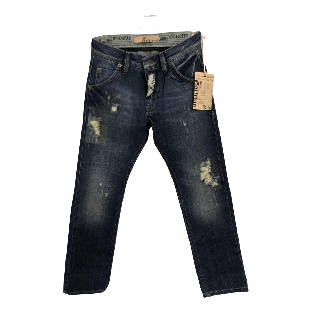 Galliano - Pantalon   pour enfant en denim - bleu