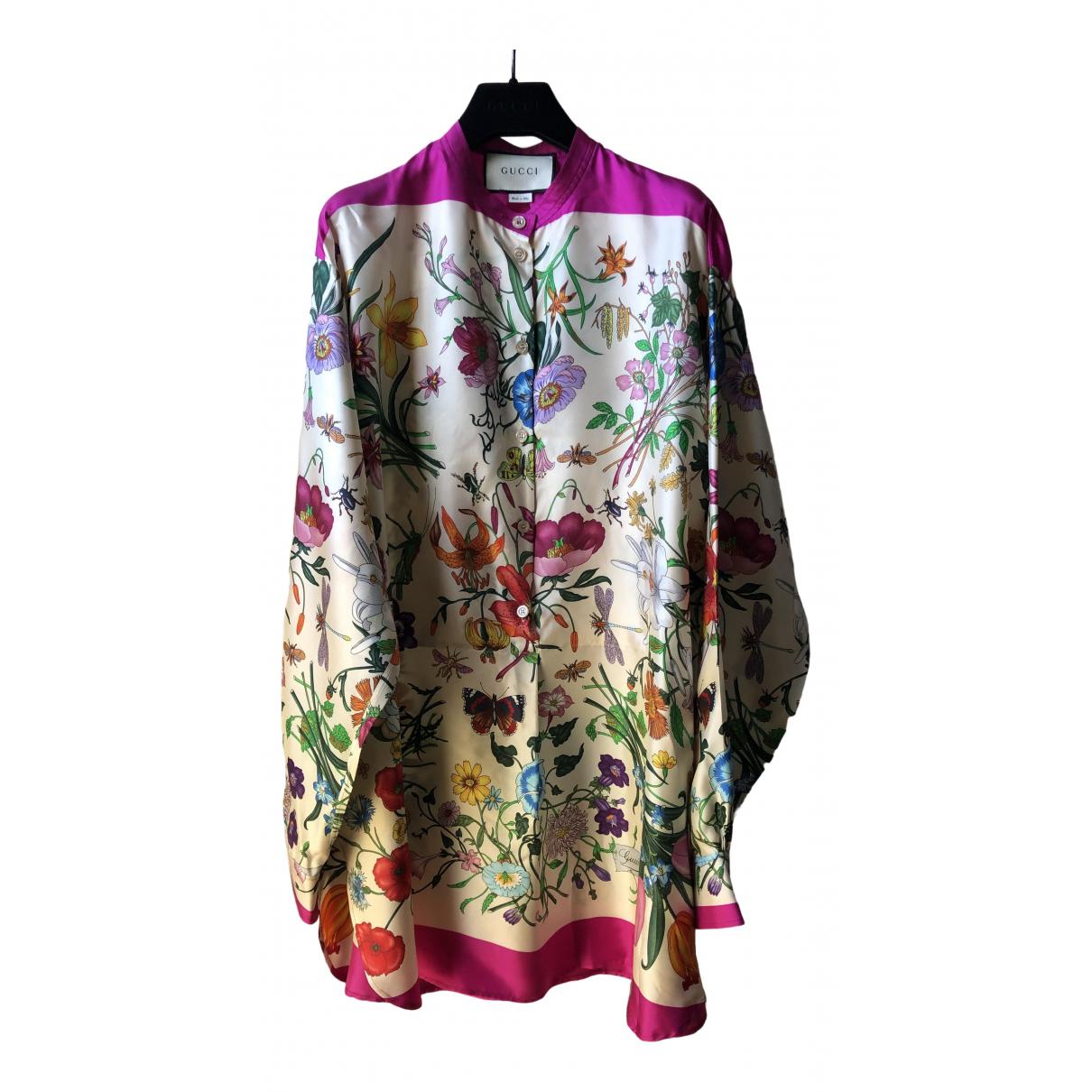 Gucci - Top   pour femme en soie - multicolore