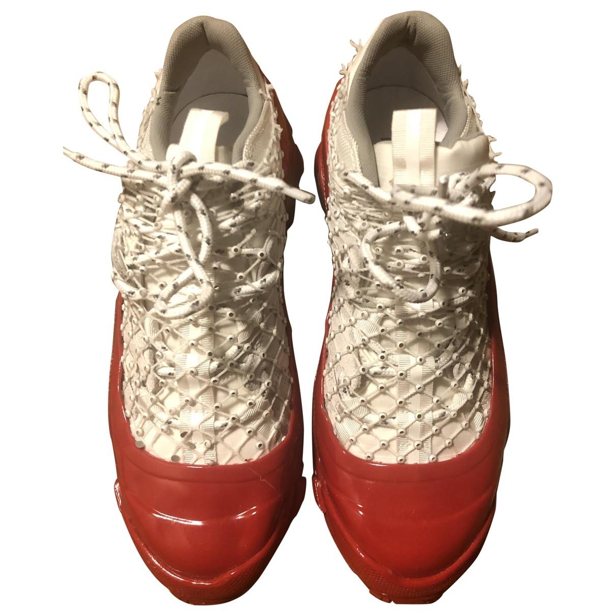 Burberry - Baskets   pour femme en caoutchouc - rouge