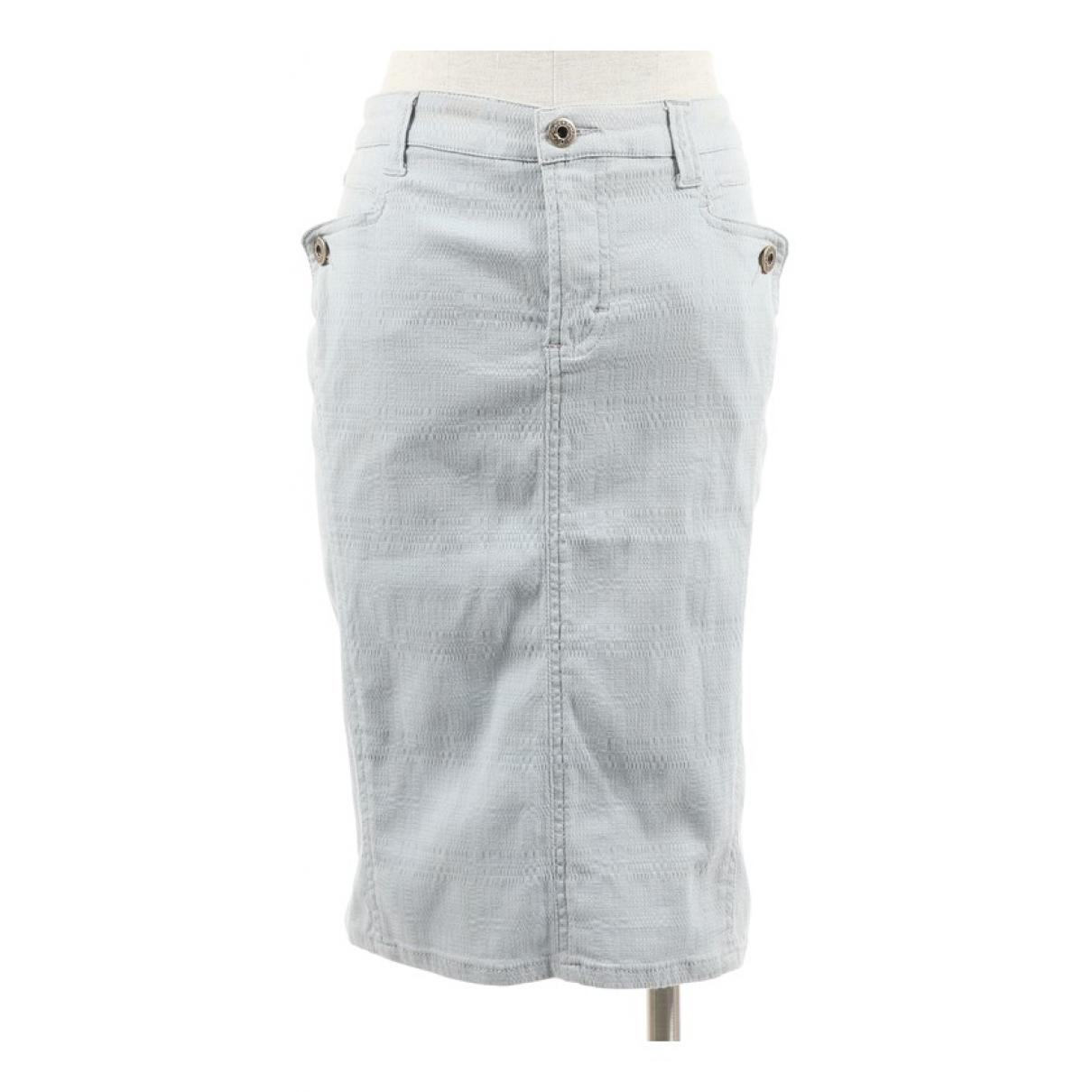 D&g - Jupe   pour femme en coton - bleu