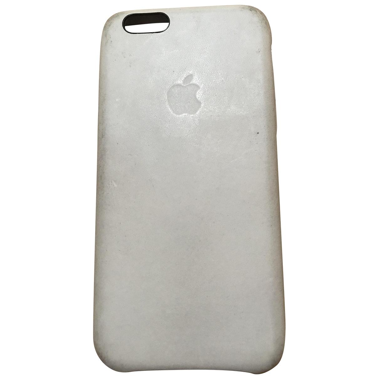 Apple \N Accessoires in  Beige Leder